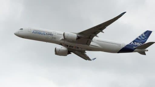 L'Airbus A350, lors d'un vol de démonstration au salon du Bourget en juin dernier.