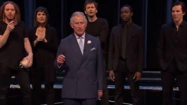 """Le Prince Charles déclame le célèbre """"Être ou ne pas être"""" de William Shakespeare, le 23 avril 2016."""