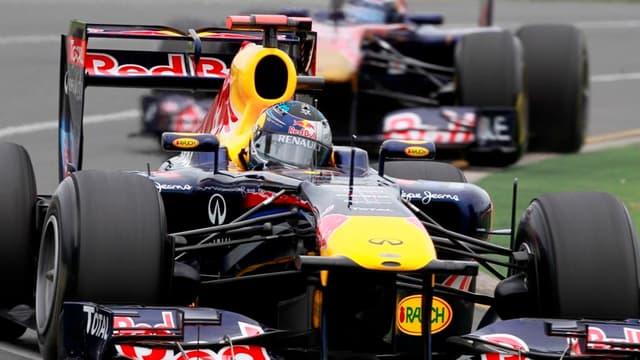Sebastian Vettel et Mark Webber