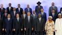 Barack Obama, entouré des chefs d'Etat présents lors du sommet Etats-Unis Afrique, à Washington.