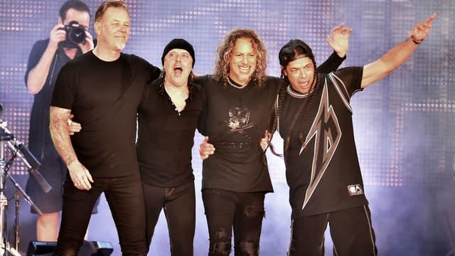 Metallica lors d'un concert pour CBS Radio en février 2016