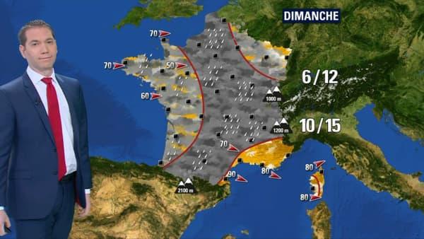 Seule la Côte d'Azur est épargnée.