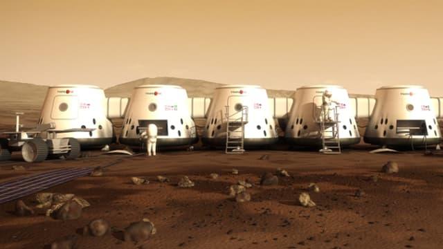 Vue des installations de la mission Mars One.