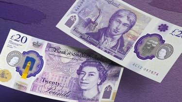 Le nouveau billet de 20 livres sterling, le 10 octobre 2019.