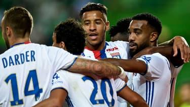 L'OL lors d'un match amical face au Sporting Lisbonne