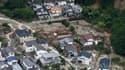 Vue aérienne des dégâts causés par un glissement de terrain à Hiroshima, au sud-ouest du Japon, le 20 août 2014.