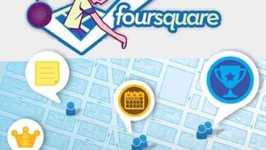Foursquare surfe sur la tendance de la géolocalisation.