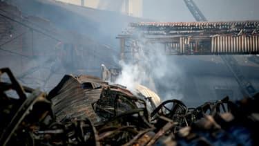 Incendie de l'usine Lubrizol à Rouen, le 26 septembre 2019 - Lou BENOIST / AFP