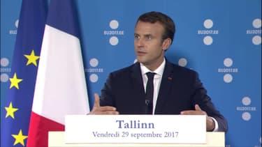 Emmanuel Macron à Tallinn.
