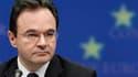 Le ministre grec des Finances, George Papaconstantinou. L'aide sans précédent mise en place pour la Grèce sera formellement activée cette semaine par les pays européens, qui espèrent ainsi calmer les inquiétudes de marchés financiers redoutant toujours un