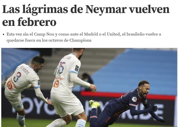 """""""Les larmes de Neymar reviennent en février"""", titre Mundo Deportivo"""