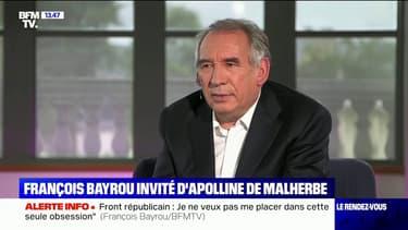 François Bayrou conteste le rapport de la police anticorruption dans l'affaire des emplois présumés fictifs du MoDem