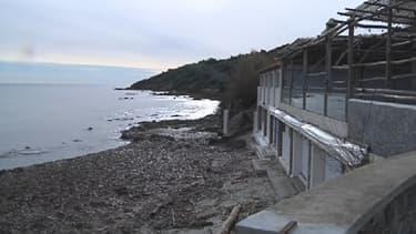 La plage de Salins, où le petit corps a été retrouvé par une promeneuse mardi après-midi.