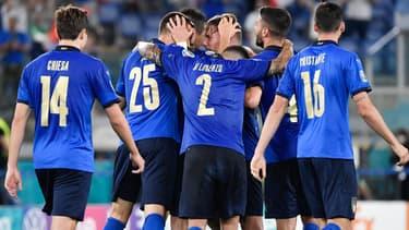 La joie des Italiens contre la Suisse, le 16 juin 2021.