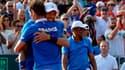 Jo-Wilfried Tsonga et Richard Gasquet sous les yeux de leur capitaine Yannick Noah