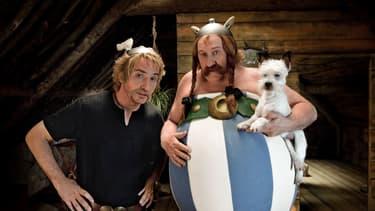 """Edouard Baer et Gérard Depardieu dans """"Astérix et Obélix: au service de Sa Majesté"""", en 2012"""