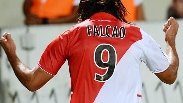 Radamel Falcao après son premier but en L1