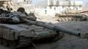 Des chars de l'armée syrienne dans la banlieue de Damas, le 24 août.