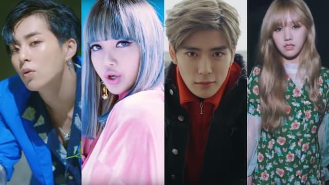 Des membres de EXO, Blackpink, NCT U et Oh My Girl
