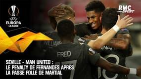 Séville - Man United : Le penalty de Fernandes après la passe folle de Martial