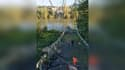 Un pont suspendu s'est effondré ce lundi matin au nord de Toulouse.