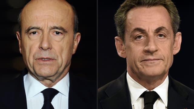 Alain Juppé et Nicolas Sarkozy divergent sur les baisses d'impôts