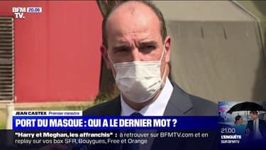 """Jean Castex confirme que """"la question de développer l'usage et le port du masque est à l'étude, en particulier dans les lieux clos"""""""