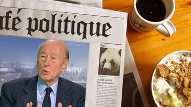 Valéry Giscard d'Estaing, ancien président de la République française, sur le plateau de BFMTV le 23 décembre 2012.