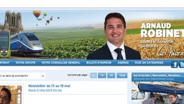 Arnaud Robinet, candidat UMP à la mairie de Reims