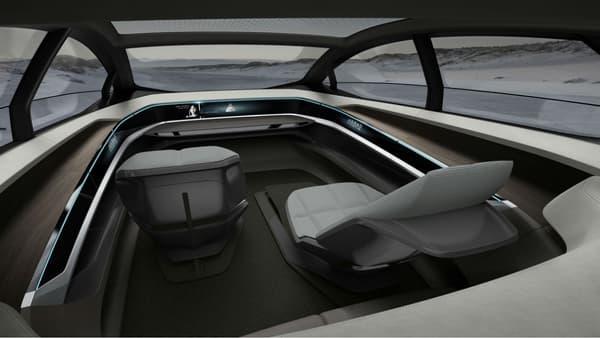 L'intérieur de la première Audi sans volant ni pédale