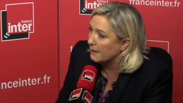 Marine Le Pen était l'invitée de France Inter le 19 novembre.