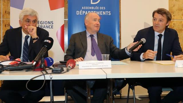 Hervé Morin, Dominique Bussereau et François Baroin le 3 juillet 2019 à Paris.