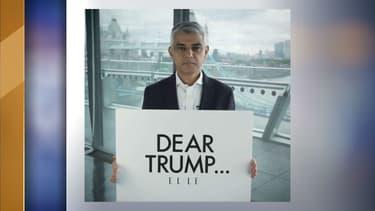 Le maire de Londres dans la vidéo publiée sur Twitter ce lundi.
