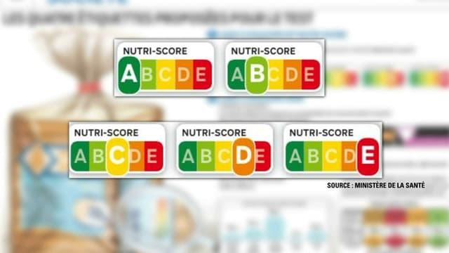 """""""Nutri-score"""", les logos nutritionnels développés par l'INSERM."""