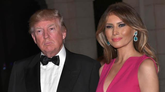 Donald et Melania Trump au gala annuel de la Croix-Rouge, à Palm Beach, le 4 février 2017
