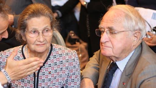 Simone Veil et son mari Antoine (à droite sur la photo) le 9 octobre 2012.