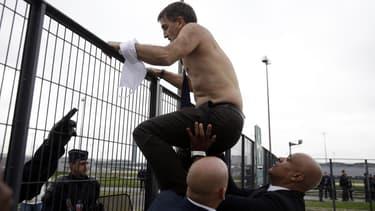 Xavier Broseta , l'ancien DRH d'Air France, avait été chahuté par des manifestants.