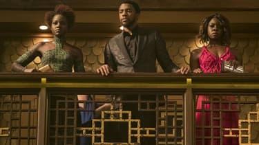 """Chadwick Boseman, Danai Gurira, Lupita Nyong'o dans """"Black Panther"""""""