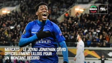 Mercato : Le joyau Jonathan David officiellement Lillois pour un montant record