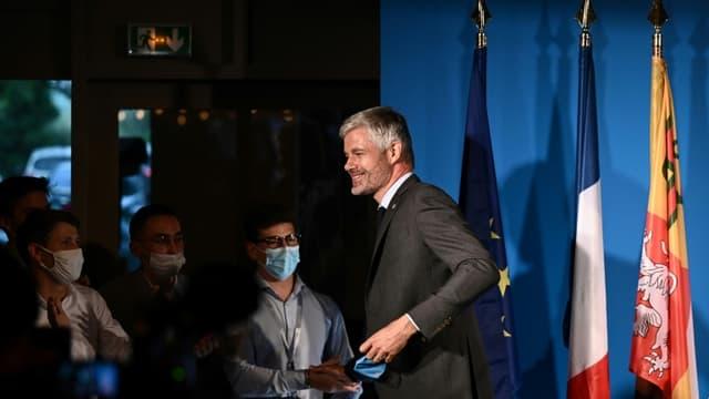 Laurent Wauquiez, réélu président de la région Auvergne-Rhône-Alpes au 2e tour des régionales, le 27 juin 2021 à Lyon