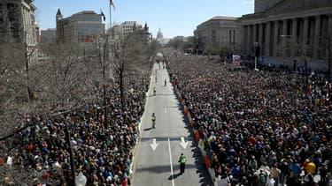 """L'événement national baptisé """"March for Our Lives"""" contre les armes à feu à Washington le 24 mars 2018"""