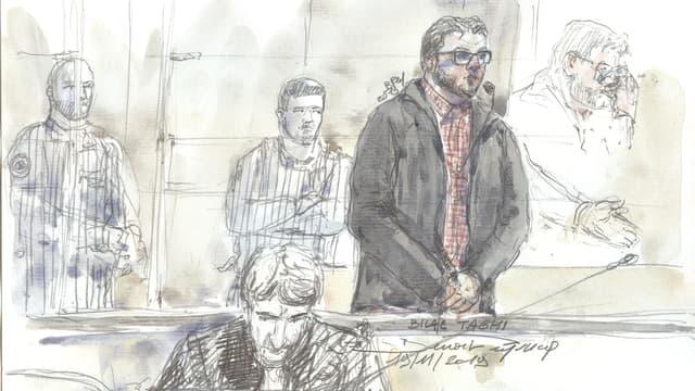 Bilal Taghi lors de son jugement, le 19 novembre 2019, à la cour criminelle de Paris