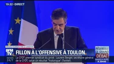 """François Fillon: """"C'est officiel, le PS a un nouveau candidat (…) C'est Emmanuel Macron"""""""
