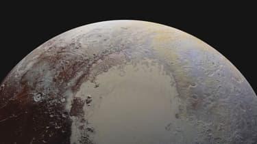 Vue partielle de la surface glacée de Pluton.