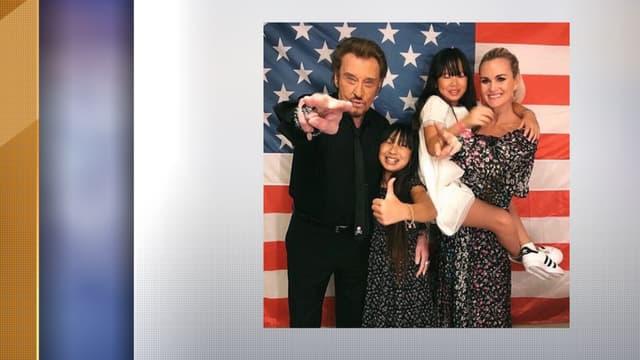 Johnny Hallyday, Laeticia et leurs enfants