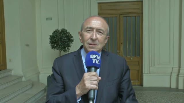 Gérard Collomb, ministre de l'Intérieur, sur BFMTV.
