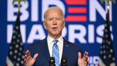 Le candidat démocrate à la Maison Blanche Joe Biden s'exprime depuis Wilmington, dans le Delaware , le 4 novembre 2020
