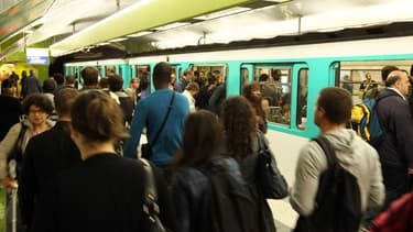 e métro parisien à la gare du Nord. (Photo d'illustration)