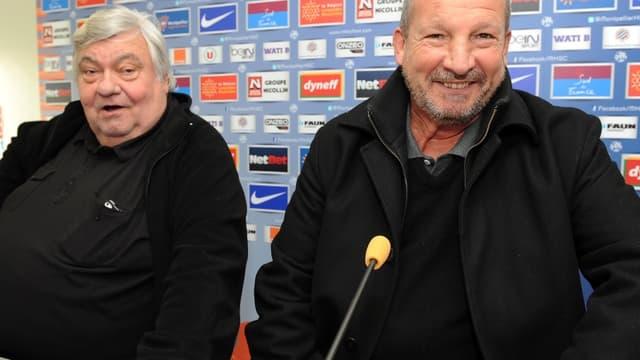 Louis Nicollin et Rolland Courbis