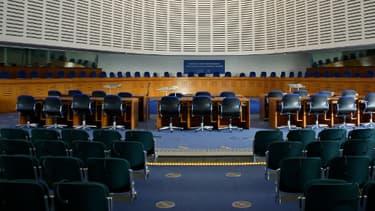 L'intérieur de la Cour européenne des droits de l'Homme, à Strasbourg.